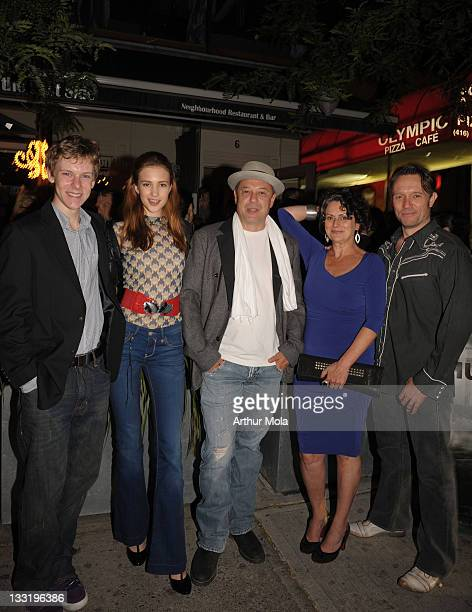 Actor Alexander De Jordy Actress Alexia Fast Director Rob W King Actress Gabrielle Rose and Actor John PyperFerguson attends the Hungry Hills after...