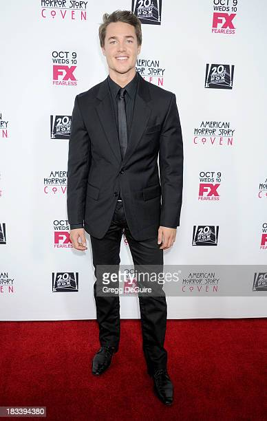 Actor Alexander Dreymon arrives at the Los Angeles premiere of FX's 'American Horror Story Coven' at Pacific Design Center on October 5 2013 in West...