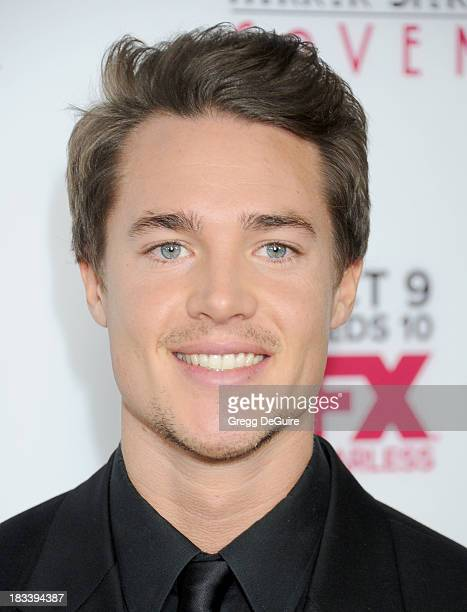 Actor Alexander Dreymon arrives at the Los Angeles premiere of FX's American Horror Story Coven at Pacific Design Center on October 5 2013 in West...