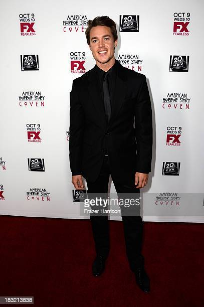 Actor Alexander Dreymon arrives at the premiere of FX's American Horror Story Coven at Pacific Design Center on October 5 2013 in West Hollywood...