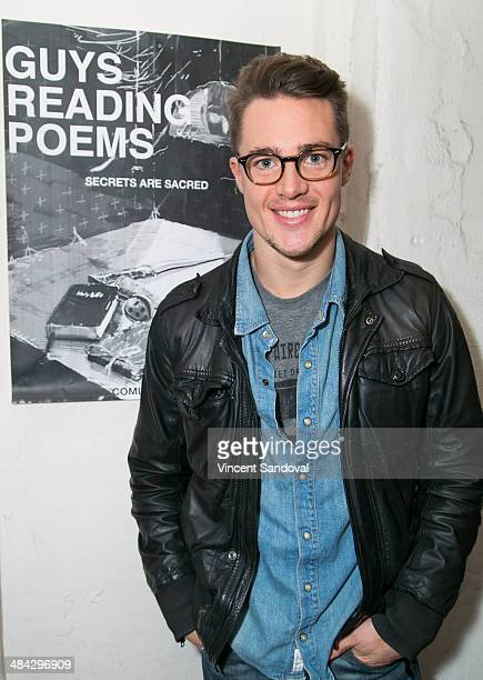 Actor Alexander Dreymon attends the Guys Reading Poems fundraiser at V Wine Bar on April 11 2014 in West Hollywood California