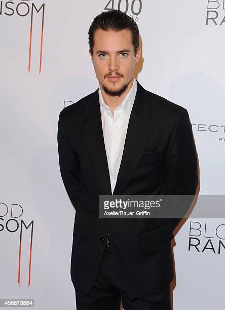 Actor Alexander Dreymon attends the Los Angeles Premiere of 'Blood Ransom' at ArcLight Hollywood on October 28 2014 in Hollywood California