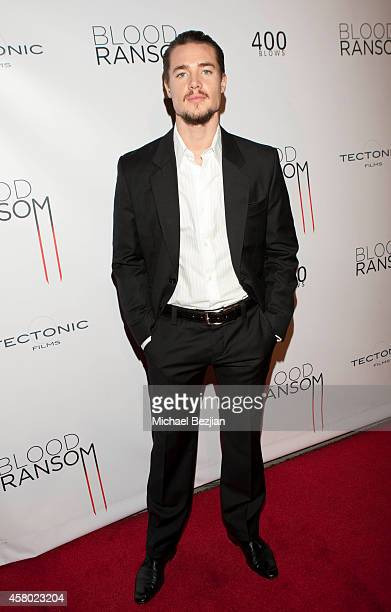 Actor Alexander Dreymon attends the Los Angeles Premiere Of 'Blood Ransom' on October 28 2014 in Los Angeles California