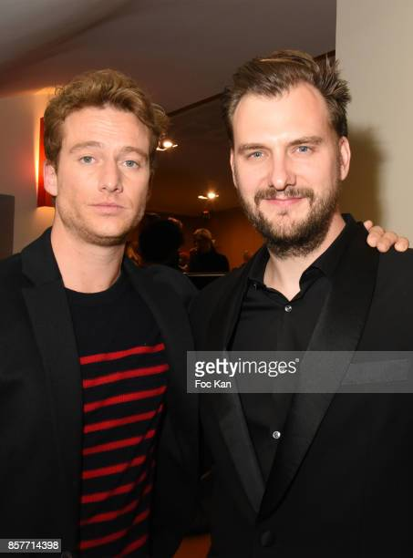 Actor Alexander Fehling and director Jan Zabail attend the Paris Premiere of 'Three Peaks' as part of 22 th German Film Festival Opening Ceremony...