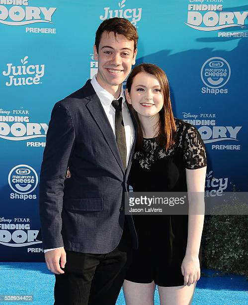 Actor Alexander Gould and guest attend the premiere of 'Finding Dory' at the El Capitan Theatre on June 8 2016 in Hollywood California