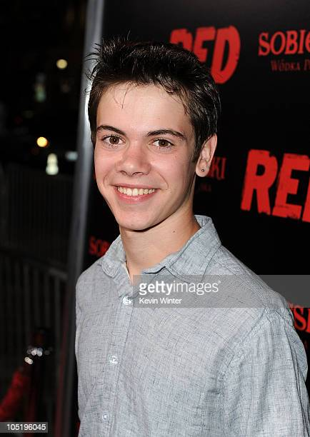 Actor Alexander Gould arrives at a special screening of Summit Entertainment's 'RED' at Grauman's Chinese Theatre on October 11 2010 in Hollywood...