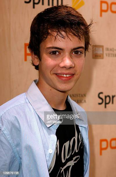 Actor Alexander Gould arrives at the Palm Pre Launch Event to Benefit Iraq and Afghanistan Veterans of America held at Raleigh Studios on June 3 2009...