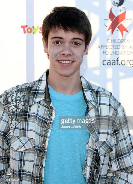 Actor Alexander Gould attends CAAF's 17th annual Dream Halloween at Barker Hangar on October 30 2010 in Santa Monica California
