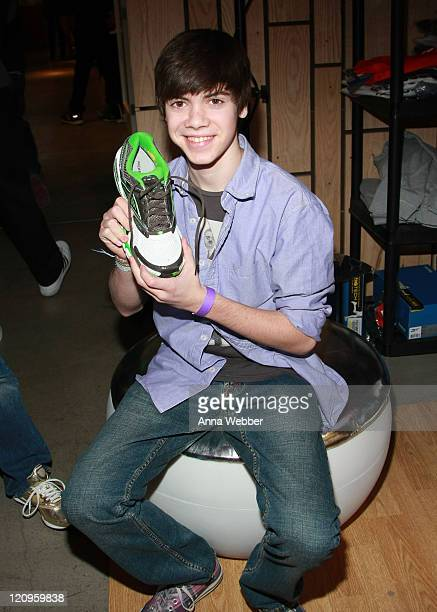 Actor Alexander Gould poses at Reebok during the Kari Feinstein Golden Globes Style Lounge at Zune LA on January 15 2010 in Los Angeles California