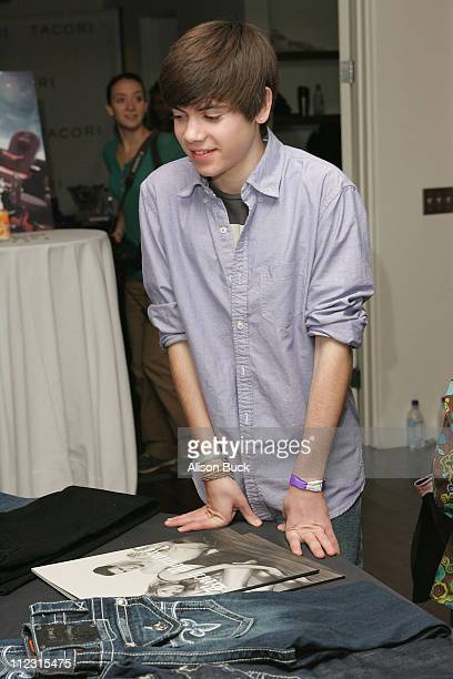Actor Alexander Gould poses at the Kari Feinstein Golden Globes Style Lounge at Zune LA on January 15 2010 in Los Angeles California