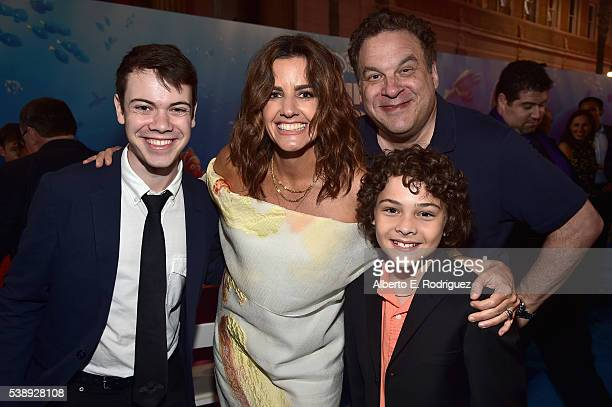 Actor Alexander Gould producer Lindsey Collins actors Jeff Garlin and Hayden Rolence attend The World Premiere of DisneyPixar's FINDING DORY on...