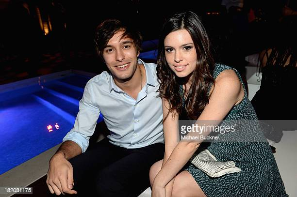 Actor Alexander Koch and Alex Frnka attend the 11th Annual Teen Vogue Young Hollywood Party With Emporio Armani on September 27 2013 in West...