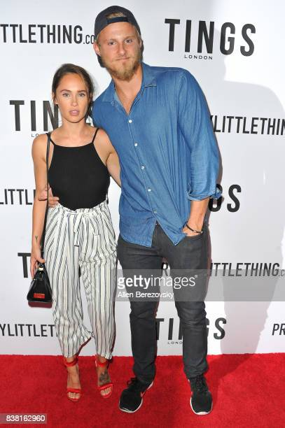 Actor Alexander Ludwig and Kristy Dawn Dinsmore attend Secret Party Launch Celebrating Cover Star Cameron Dallas hosted by TINGS at Nightingale on...
