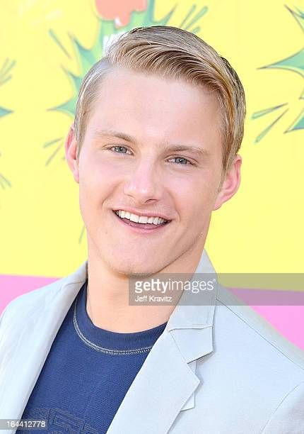 Actor Alexander Ludwig arrives at Nickelodeon's 26th Annual Kids' Choice Awards at USC Galen Center on March 23 2013 in Los Angeles California