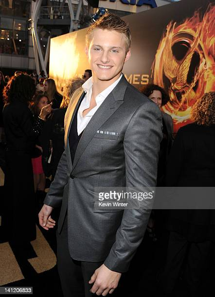 Actor Alexander Ludwig arrives at the premiere of Lionsgate's 'The Hunger Games' at Nokia Theatre LA Live on March 12 2012 in Los Angeles California