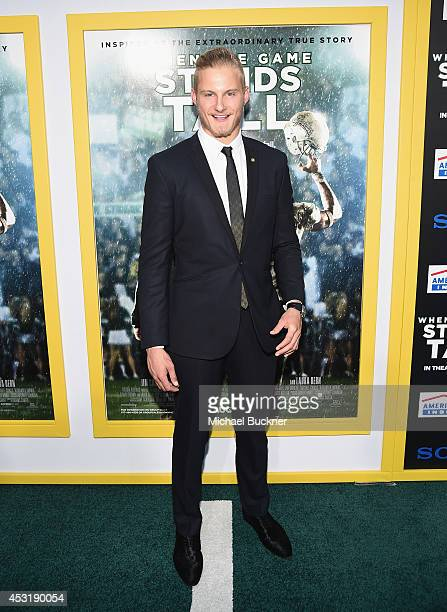 Actor Alexander Ludwig arrives at the premire of Tri Star Pictures' When The Game Stands Tall at the ArcLight Cinemas on August 4 2014 in Hollywood...