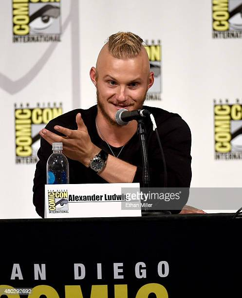 Actor Alexander Ludwig attends a panel for the History series 'Vikings' during ComicCon International 2015 at the San Diego Convention Center on July...