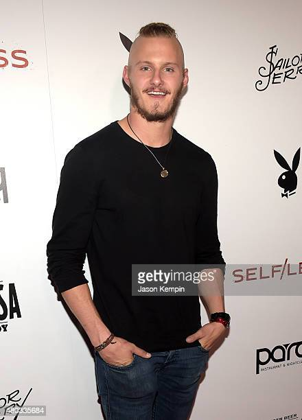Actor Alexander Ludwig attends Playboy and Gramercy Pictures' Self/less party during ComicCon weekend at Parq Restaurant Nightclub on July 10 2015 in...