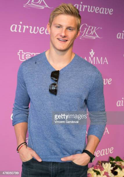 Actor Alexander Ludwig attends the GBK airweave PreOscar Luxury Lounge on March 1 2014 in Beverly Hills California