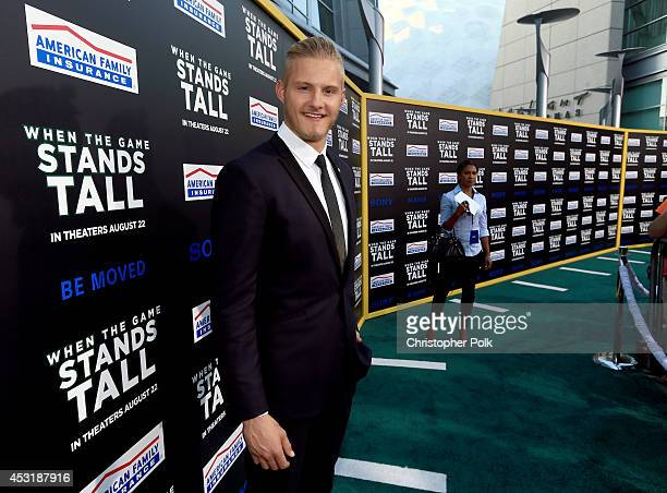 Actor Alexander Ludwig attends the premiere of Tri Star Pictures' When The Game Stands Tall at ArcLight Cinemas on August 4 2014 in Hollywood...