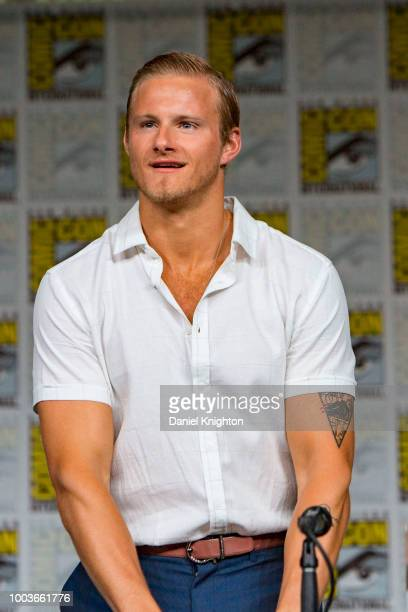 Actor Alexander Ludwig attends the Vikings panel at ComicCon International on July 20 2018 in San Diego California