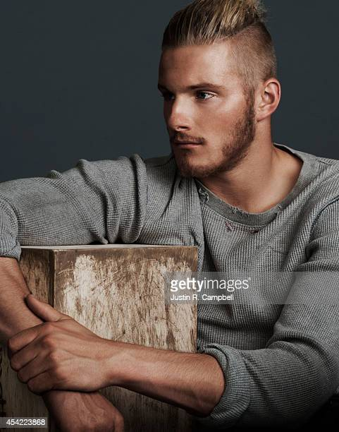 Actor Alexander Ludwig is photographed for Just Jared on August 4 2014 in Los Angeles California PUBLISHED ONLINE