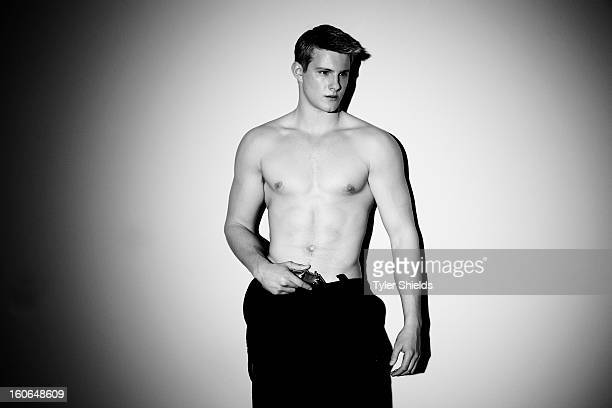 Actor Alexander Ludwig is photographed for Self Assignment on November 29 2012 in Los Angeles California