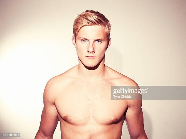 Actor Alexander Ludwig is photographed for Self Assignment on March 1 2014 in Los Angeles California