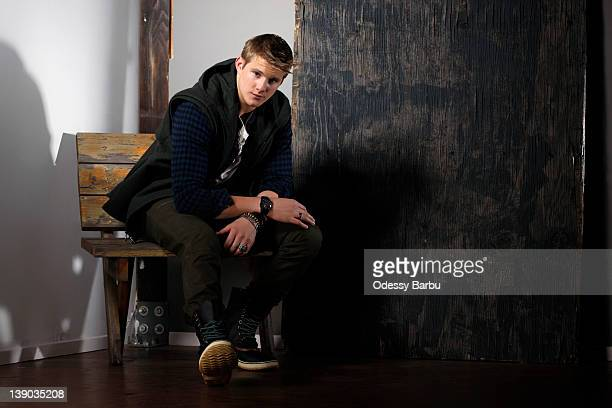 Actor Alexander Ludwig is photographed for YRB Magazine on December 10 2011 in Los Angeles California PUBLISHED IMAGE