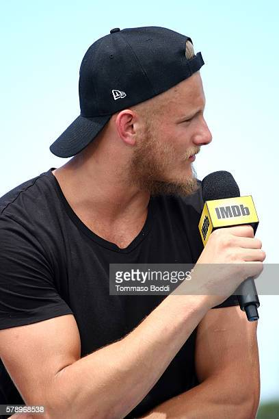Actor Alexander Ludwig of Vikings attends the IMDb Yacht at San Diego ComicCon 2016 Day Two at The IMDb Yacht on July 22 2016 in San Diego California