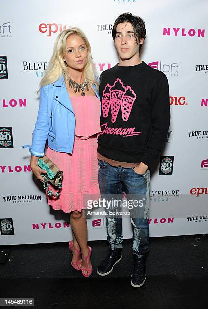 Actor Alexander Newton and Kahl arrive at the NYLON Magazine June/July Music Issue Launch Party With Shirley Manson at The Roxy Theatre on May 30...