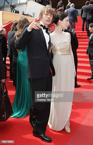 Actor Alexander Scheer and Actress Nora Von Waldstaetten attend the 'Carlos' Premiere at the Palais des Festivals during the 63rd Annual Cannes Film...