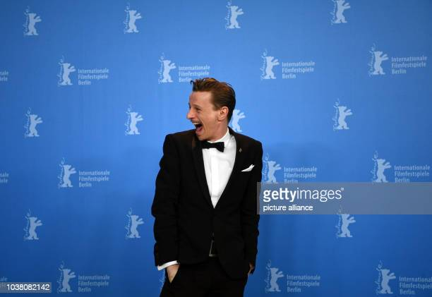 Actor Alexander Scheer during a press event for the film 'The Young Karl Marx' at the 67th International Berlin Film Festival Berlinale in Berlin...