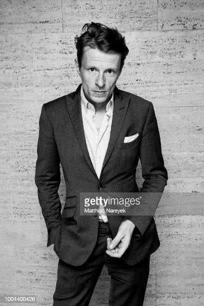 Actor Alexander Scheer poses during the Goetz George Award at Astor Film Lounge on July 23 2018 in Berlin Germany