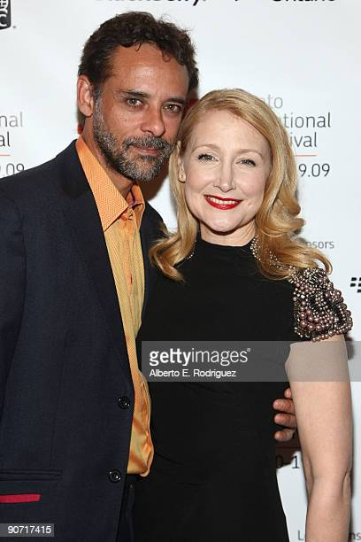 Actor Alexander Siddig and actress Patricia Clarkson arrive at the 'Cairo Time' screening during the 2009 Toronto International Film Festival held at...