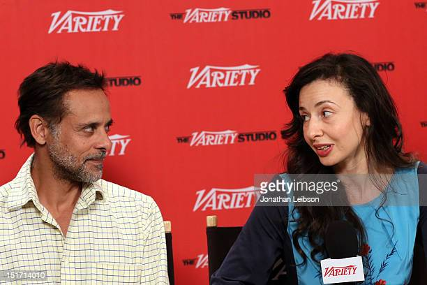 Actor Alexander Siddig and director Ruba Nadda attend Variety Studio Presented By Moroccanoil At Holt Renfrew Day 3 Toronto on September 10 2012 in...