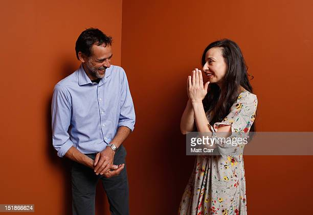 Actor Alexander Siddig and director Ruba Nadda of 'Inescapable' pose at the Guess Portrait Studio during 2012 Toronto International Film Festival on...