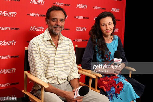 Actor Alexander Siddig and Filmmaker Ruba Nadda attend Variety Studio Presented By Moroccanoil Day 3 at Holt Renfrew Toronto on September 10 2012 in...