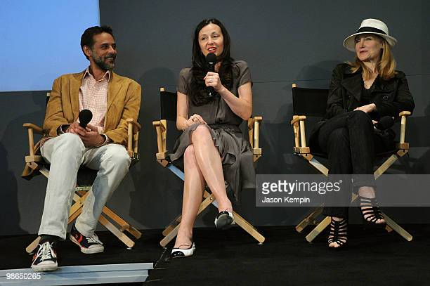 Actor Alexander Siddig writer/director Ruba Nadda and actress Patricia Clarkson speak at Meet The Filmmaker 'Cairo Time' presented by Apple Store...