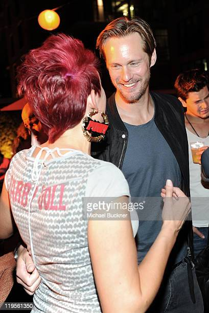 Actor Alexander Skarsgaard attends Summit Entertainment ComicCon Party at the Hard Rock Hotel on July 21 2011 in San Diego California