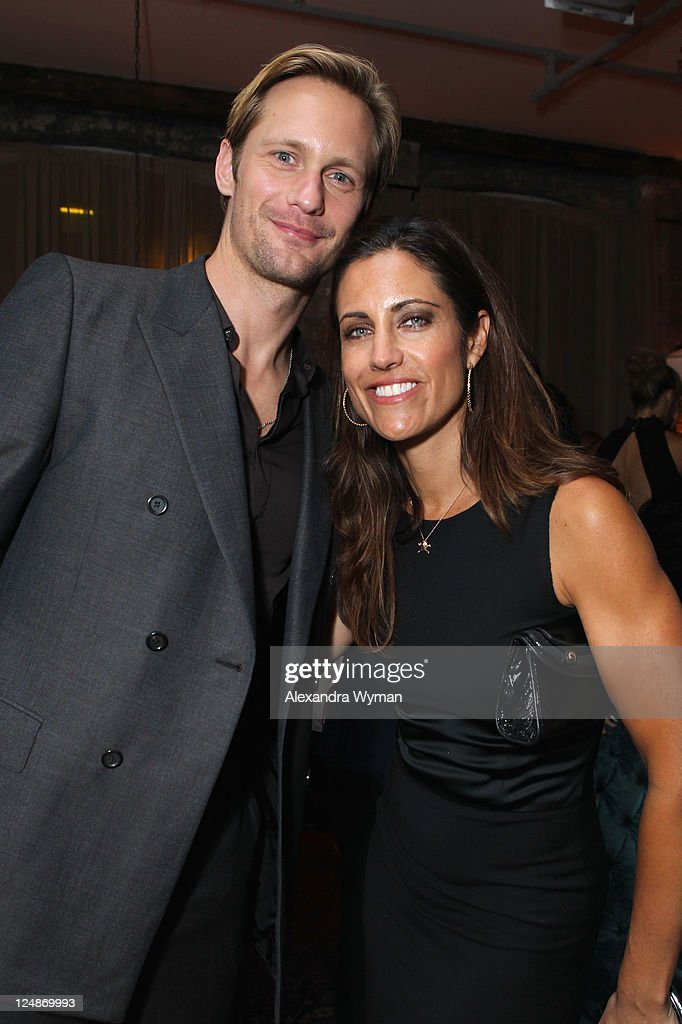 Actor Alexander Skarsgard and party guest attend 'A Dangerous Method' party hosted by GREY GOOSE Vodka at Soho House Pop Up Club during the 2011 Toronto International Film Festival on September 10, 2011 in Toronto, Canada.