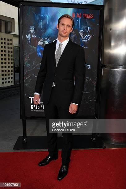 Actor Alexander Skarsgard arrives at HBO's True Blood Season 3 Premiere at ArcLight Cinemas Cinerama Dome on June 8 2010 in Hollywood California