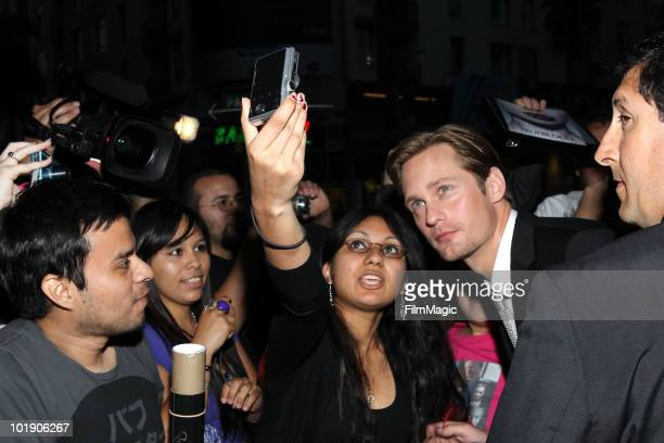 Actor Alexander Skarsgard arrives at HBO's 'True Blood' Season 3 premiere held at ArcLight Cinemas Cinerama Dome on June 8 2010 in Hollywood...