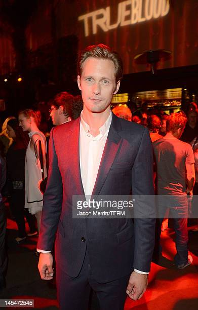 Actor Alexander Skarsgard arrives at the HBO 'True Blood' season 5 premiere after party held at LURE on May 30, 2012 in Hollywood, California.