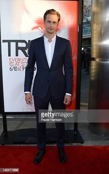 Actor Alexander Skarsgard arrives at the Premiere Of HBO's True Blood 5th Season at ArcLight Cinemas Cinerama Dome on May 30 2012 in Hollywood...