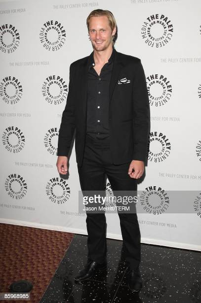 Actor Alexander Skarsgard arrives at the True Blood season premiere held during PaleyFest09 at the ArcLight cinemas on April 13 2009 in Hollywood...