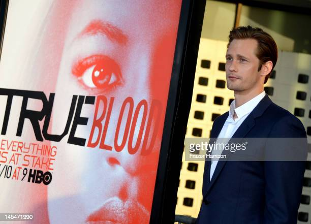 Actor Alexander Skarsgard arrives Premiere Of HBO's True Blood 5th Season at ArcLight Cinemas Cinerama Dome on May 30 2012 in Hollywood California