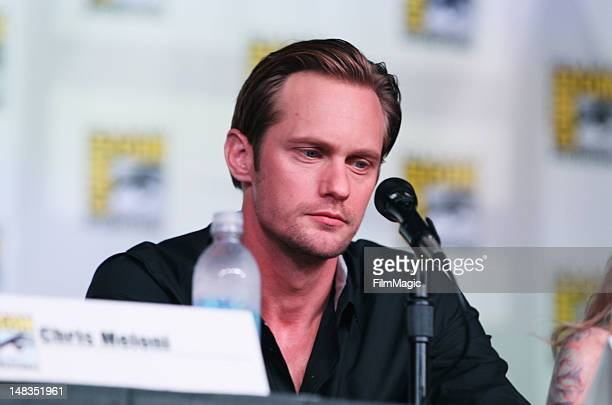 Actor Alexander Skarsgard attends HBO's True Blood during ComicCon International 2012 at San Diego Convention Center on July 14 2012 in San Diego...