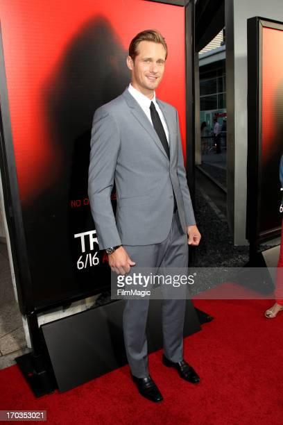Actor Alexander Skarsgard attends HBO's True Blood season 6 premiere at ArcLight Cinemas Cinerama Dome on June 11 2013 in Hollywood California