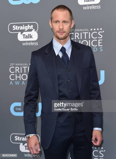 Actor Alexander Skarsgard attends the 23rd Annual Critics' Choice Awards at Barker Hangar on January 11 2018 in Santa Monica California